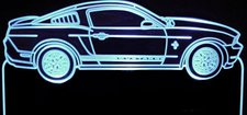 2012 Mustang Acrylic Lighted Edge Lit LED Sign / Light Up Plaque Full Size Made in USA