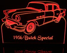 1956 Buick Special Acrylic Lighted Edge Lit LED Sign / Light Up Plaque Full Size Made in USA