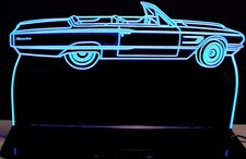 1965 Thunderbird Landau Conv Acrylic Lighted Edge Lit LED Sign / Light Up Plaque Full Size Made in USA