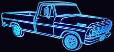 1969 Ford Pickup Acrylic Lighted Edge Lit LED Truck Sign / Light Up Plaque
