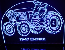 1947 Emp Tractor Farm Equipment Acrylic Lighted Edge Lit LED Sign / Light Up Plaque Full Size Made in USA