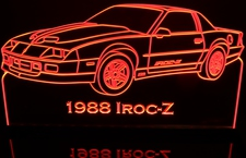 1988 Camaro IROC-Z with scoops Acrylic Lighted Edge Lit LED Sign / Light Up Plaque Full Size Made in USA