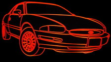 1995 Buick Riviera Acrylic Lighted Edge Lit LED Car Sign / Light Up Plaque