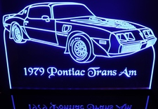 1979 PontiacTrans Am Acrylic Lighted Edge Lit Led Car Sign / Light Up Plaque