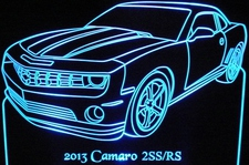 2013 Camaro 2SS/RS Acrylic Lighted Edge Lit LED Sign / Light Up Plaque Full Size USA Original