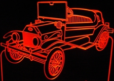1910 Tin Lizzy Acrylic Lighted Edge Lit LED Car Sign / Light Up Plaque