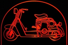 Motorbike Highlander Motorcycle Scooter Acrylic Lighted Edge Lit LED Bike Sign / Light Up Plaque