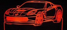 2015 Corvette Stingray Acrylic Lighted Edge Lit LED Sign / Light Up Plaque Full Size Made in USA