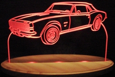 1967 Chevy Camaro SS Convertible Acrylic Lighted Edge Lit LED Sign / Light Up Plaque Full Size USA Original