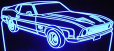 1971 Cobra Jet Mach 1 Ford Mustang Acrylic Lighted Edge Lit LED Car Sign / Light Up Plaque