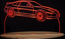 1986 Fiero GT Acrylic Lighted Edge Lit LED Sign / Light Up Plaque Full Size USA Original
