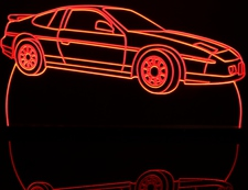1986 Fiero GT Acrylic Lighted Edge Lit LED Sign / Light Up Plaque Full Size Made in USA