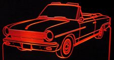 1964 Rambler Convertible Acrylic Lighted Edge Lit LED Car Sign / Light Up Plaque