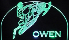 Snowmobile (add your own text) snow machine Acrylic Lighted Edge Lit LED Sign / Light Up Plaque Full Size Made in USA