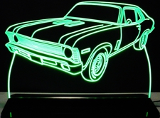 1970 Nova Acrylic Lighted Edge Lit LED Sign / Light Up Plaque Full Size Made in USA