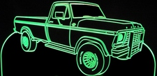 1979 Ford Pickup Truck F350 B with Cattle Guards Acrylic Lighted Edge Lit LED Sign / Light Up Plaque