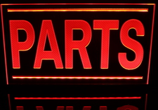 Parts Advertising Business Logo Acrylic Lighted Edge Lit LED Sign / Light Up Plaque Full Size Made in USA