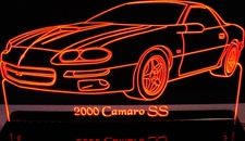 2000 Chevy Camaro SS Acrylic Lighted Edge Lit LED Car Sign / Light Up Plaque Chevrolet