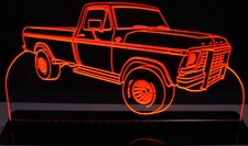 1978 Ford F250 Pickup Truck Acrylic Lighted Edge Lit LED Sign / Light Up Plaque