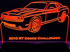 2010 Challenger RT Acrylic Lighted Edge Lit LED Sign / Light Up Plaque Full Size Made in USA