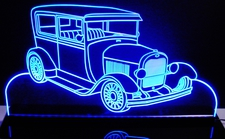 1928 Ford Model Acrylic Lighted Edge Lit LED Sign / Light Up Plaque Full Size Made in USA