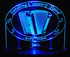 Accordian SAMPLE Advertising Business Logo Acrylic Lighted Edge Lit LED Sign / Light Up Plaque