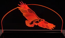 Eagle In Flight Flying Acrylic Lighted Edge Lit LED Eagle Sign / Light Up Plaque