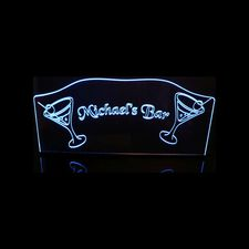 Bar Glasses Martini Drink Acrylic Lighted Edge Lit LED Sign / Light Up Plaque Full Size Made in USA