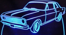 1969 Ford Falcon Acrylic Lighted Edge Lit LED Car Sign / Light Up Plaque 69