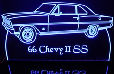 1966 Chevy II SS Acrylic Lighted Edge Lit LED Sign / Light Up Plaque Full Size Made in USA