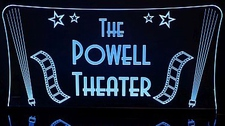 Theater Home Box Office with Filmstrips & Lights Acrylic Lighted Edge Lit LED Sign / Light Up Plaque Full Size Made in USA