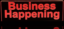 Business Happening Recording Quiet Acrylic Lighted Edge Lit LED Sign / Light Up Plaque Full Size Made in USA