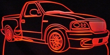 2002 Ford Lightning SVT Acrylic Lighted Edge Lit LED Sign / Light Up Plaque Full Size Made in USA