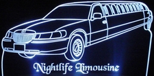 1999 Lincoln Towncar Limousine Acrylic Lighted Edge Lit LED Car Sign / Light Up Plaque 99 Limo