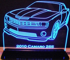2010 Camaro 2SS Acrylic Lighted Edge Lit LED Sign / Light Up Plaque Full Size USA Original