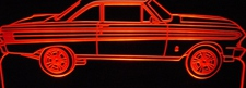 1964 Falcon Convertible Acrylic Lighted Edge Lit LED Sign / Light Up Plaque Full Size Made in USA