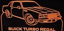 1986 Regal Turbo Acrylic Lighted Edge Lit LED Sign / Light Up Plaque Full Size Made in USA