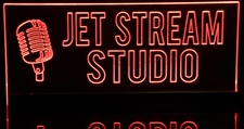 Jet Stream Studio Recording Sign (add your own text) Acrylic Lighted Edge Lit LED Sign / Light Up Plaque Full Size Made in USA