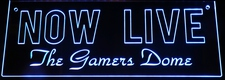 Now Live Recording Streaming (Gamers add your own text) Acrylic Lighted Edge Lit LED Sign / Light Up Plaque Full Size Made in USA