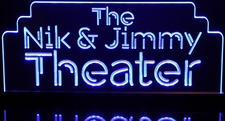 Theater Home Movie Sign (add your own text) Acrylic Lighted Edge Lit LED Sign / Light Up Plaque Full Size Made in USA