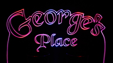 George's Georges Place Room Den Office (add your own name) Acrylic Lighted Edge Lit LED Sign / Light Up Plaque Full Size Made in USA
