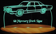1968 Mercury Park Lane Acrylic Lighted Edge Lit LED Car Sign / Light Up Plaque 68