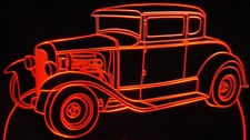 1931 Ford Model A Sedan Acrylic Lighted Edge Lit LED Car Sign / Light Up Plaque