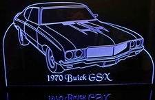 1970 Buick GSX Acrylic Lighted Edge Lit LED Sign / Light Up Plaque Full Size Made in USA