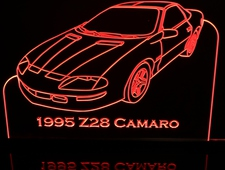 1995 Camaro Z28 Acrylic Lighted Edge Lit LED Sign / Light Up Plaque Full Size Made in USA