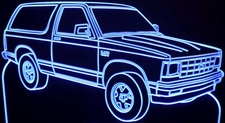 1985 S10 Blazer Acrylic Lighted Edge Lit LED Sign / Light Up Plaque Full Size Made in USA
