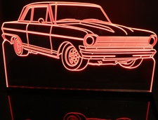 1962 Chevy II Nova Acrylic Lighted Edge Lit LED Sign / Light Up Plaque Full Size Made in USA