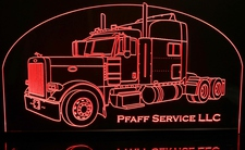 Wrecker (add your own text) Acrylic Lighted Edge Lit LED Sign / Light Up Plaque Full Size Made in USA