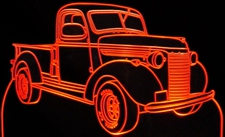 1940 Chevrolet Pickup Truck Acrylic Lighted Edge Lit LED Sign / Light Up Plaque Chevy Full Size Made in USA