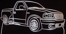 2004 Ford Lightning Pickup Truck Acrylic Lighted Edge Lit LED Sign / Light Up Plaque Full Size Made in USA